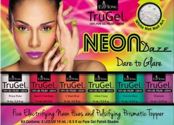 EzFlow TruGel Neon Daze — Яркая коллекция гелевых лаков «Неоновый транс»