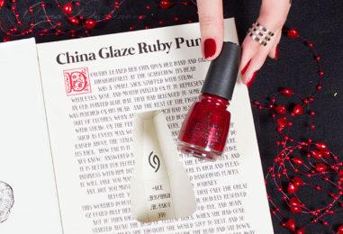 Лимитированное подарочное издание лака China Glaze Ruby Pumps
